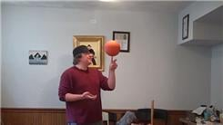 Most Charlier Card Cuts With One Hand While Spinning A Mini Basketball