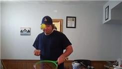 Fastest Time To Perform 25 Thumb Card Cuts While Bouncing A Tennis Ball On Alternating Sides Of A Tennis Racket