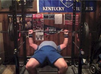 Most Reps Bench Pressing A 420-Pound Barbell (Athlete Under 235 Lbs.)