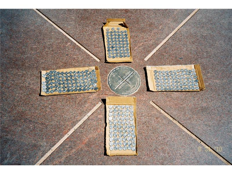 Most American Quarters Displayed In Respective States At Four Corners Monument