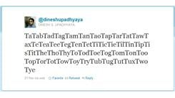 Most Words In A Tweet That Start With The Letter 'T'