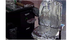Most Office Items Covered In Tin Foil