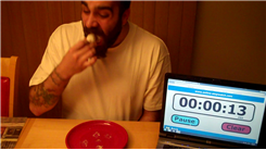 Fastest Time To Eat Five Doughnut Holes