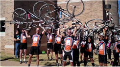 "Most People To Lift Up Bikes And Say ""Break Cancer"" After 40-Mile Ride"