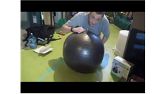 Fastest Time To Blow Up An Exercise Ball Two Feet In Diameter