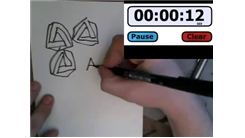 Most Penrose Triangles Drawn In 30 Seconds