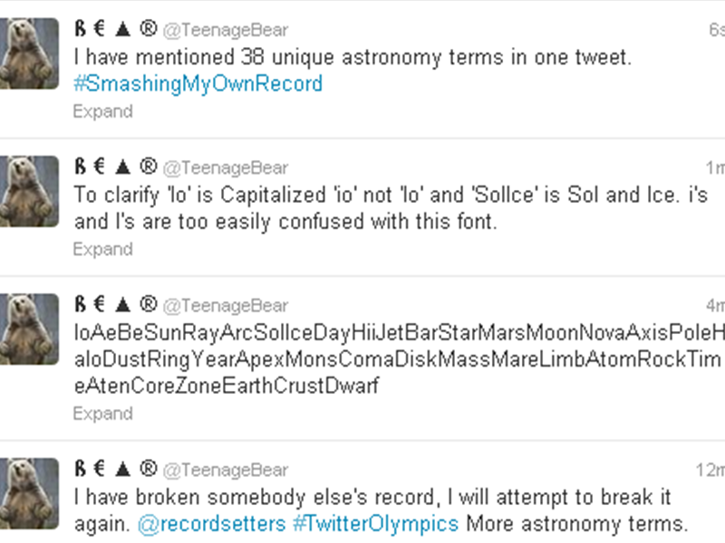 Most Astronomy Terms In A Tweet