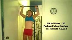 Most Push-Up/Pull-Up Combos In One Minute