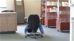 Farthest Distance To Push An Office Chair Using One's Head