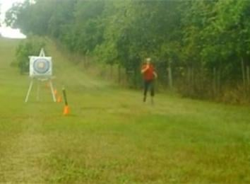 Fastest Half-Mile Cross Country Run 10-Yard Archery Combination