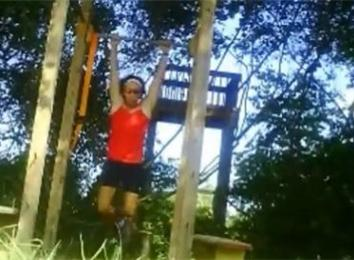 Highest Score On A Consecutive Pull-Ups 40-Yard Archery Obstacle Course