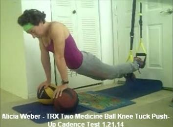 Longest TRX Two Medicine Ball Knee Tuck Push-Up Cadence Test