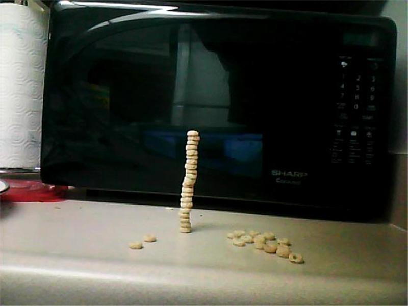 Tallest Honey Nut Cheerios Tower