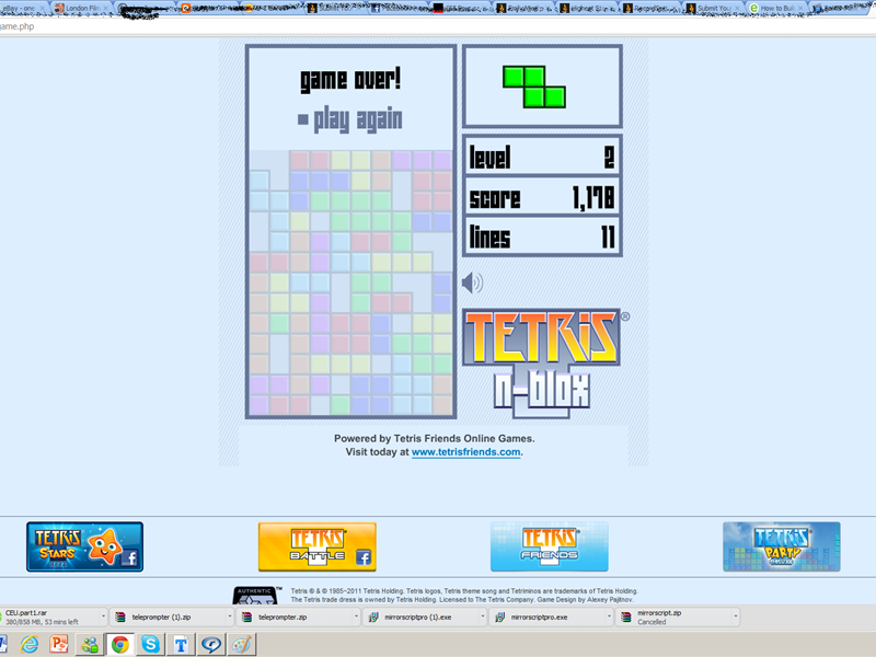 Highest Score On Tetris Game