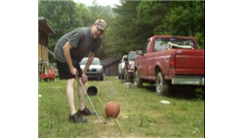 Farthest Distance To Chip A Basketball Into A Bucket Using A Golf Club