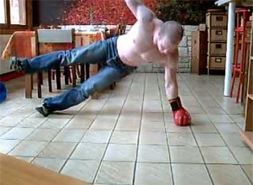 Most Consecutive Clapping Side Plank Press-Ups While Wearing A Boxing Glove
