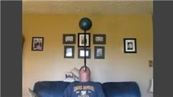 Longest Time To Balance A Bowling Ball On Top Of A 28.50-Inch Pole On Chin