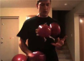 Most Catches Juggling Three Four-Pound Balls In One Minute