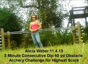 Highest Score In A Consecutive Dips, 40-Yard Archery Obstacle Course