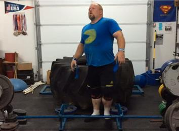 Most Reps Deadlifting A 580-Pound Giant Tire