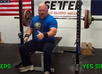 Most Reps Bench Pressing A 355-Pound Barbell (Athlete Under 235 Lbs.)