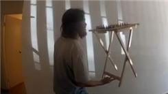 Longest Time Balancing A Chess Board On A TV Tray On Two Fingers