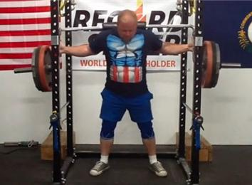 Most Reps Squatting A 320-Pound Weight Using A Cambered Squat Bar