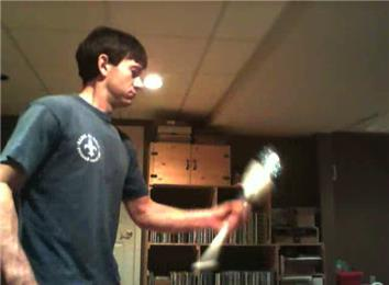 Most Times Flipping A Juggling Club In 30 Seconds