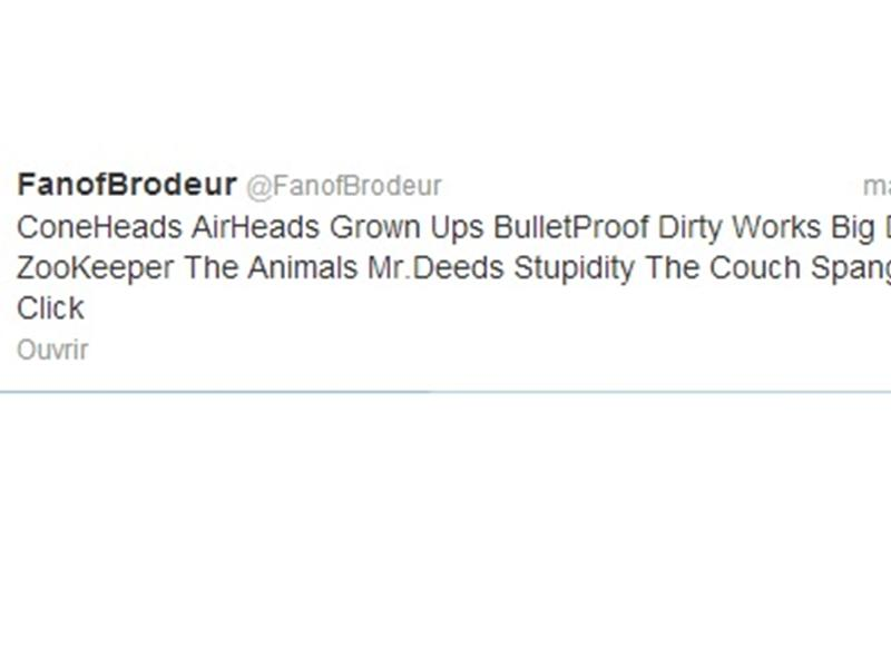 Most Adam Sandler Movies Mentioned In A Tweet