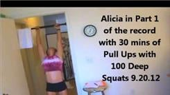 Most Reps Performing 35-Minute Strict Pull-Squat-Push