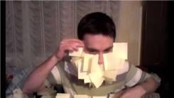 Most Post-It Notes Attached To Face In One Minute