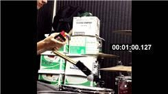 Fastest Time To Solve Rubik's Cube While Playing  The Drums