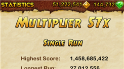 "Highest Score In ""Temple Run 2"""