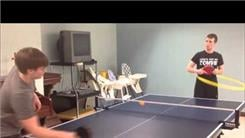 Longest Table Tennis Volley While Hula Hooping