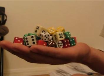 Most Dice Held In One Hand