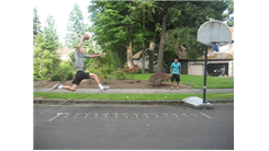 Longest Distance From Which To Dunk A Ball Into A Toy Basketball Hoop