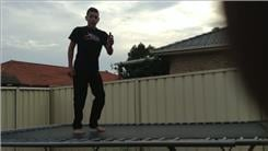Most Trampoline Front Flips In One Minute