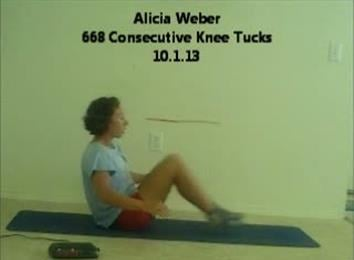 Most Consecutive Knee Tucks