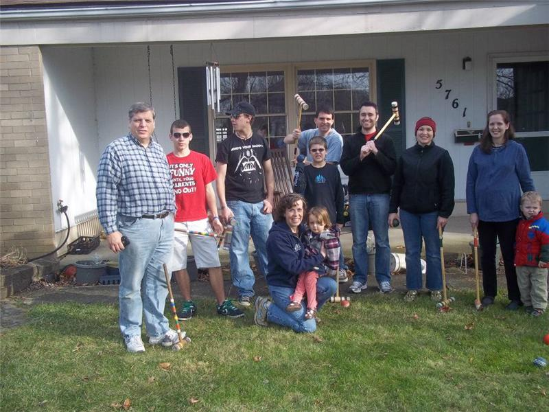 Largest Group Of Family Members To Play Extreme Croquet