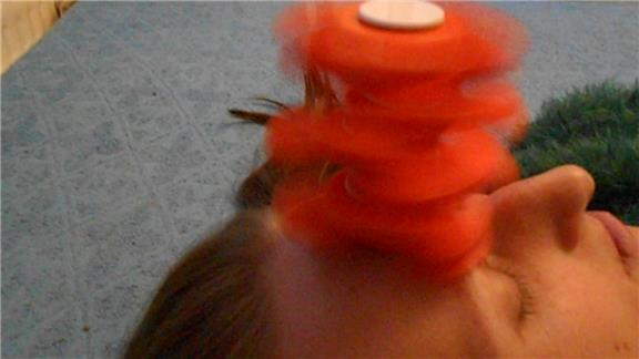 Tallest Spinning Fidget Spinner Tower Stacked On Forehead