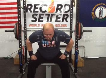 Most Reps Bench Pressing A 320-Pound Barbell (Athlete Under 235 Lbs.)