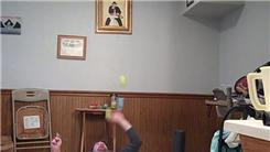 Most Consecutive Catches Juggling Two Tennis Balls While Lying Down And Spinning A Toothbrush