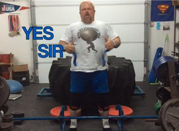 Most Reps Deadlifting A 570-Pound Giant Tire