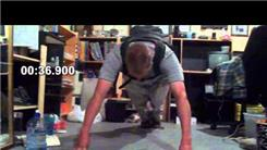 Longest Eight-Finger Plank With 100 Pounds On Back