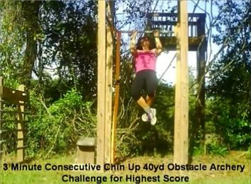 Highest Score In The Consecutive Chin-Ups 40-Yard Archery Obstacle Course
