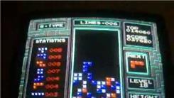"Highest Score In B-Mode Level 8 To 18 Of ""Tetris"" (NES)"
