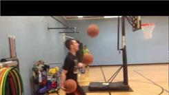 Longest Basketball Shot Made From A Three-Ball Cascade
