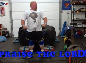 Heaviest Giant Tire Deadlift (Athlete Under 235 Lbs.)