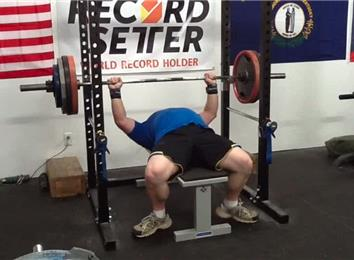 Most Reps Bench Pressing A 370-Pound Barbell (Athlete Under 235 Lbs.)