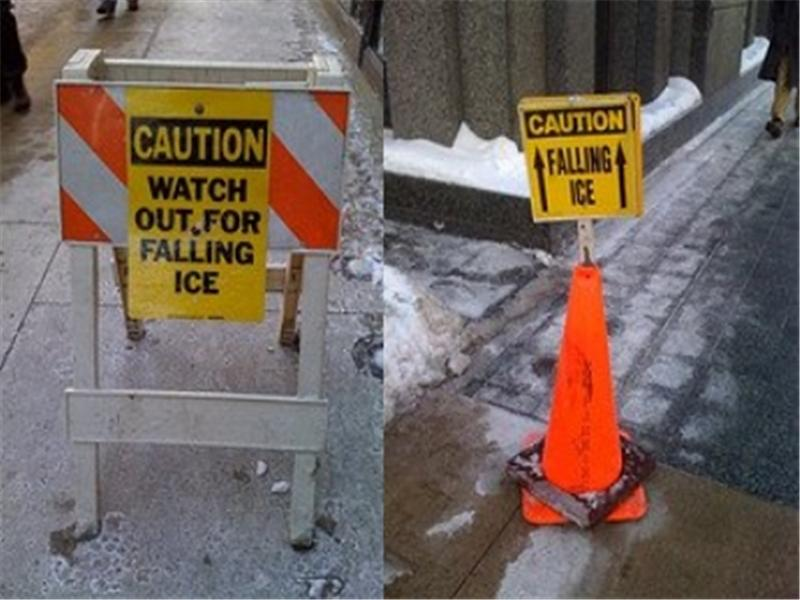 Most Images Of \'Caution: Falling Ice\' Signs In One Blog Post